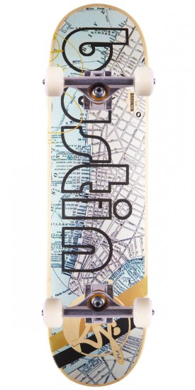 Bustin Pro Skateboard Complete - NYC Map - 8.25""