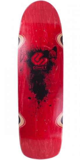 "Comet Shred 33"" Longboard Skateboard Deck - 2014 Red"