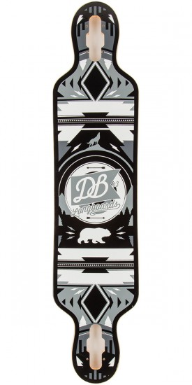 "DB Urban Native 38"" Longboard Deck - White/Grey - Blem"