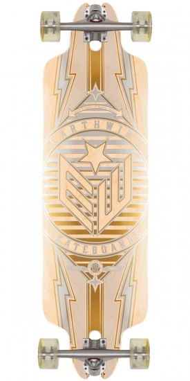"""Earthwing Scavenger 35"""" Longboard Complete - Maple/Silver/Gold"""