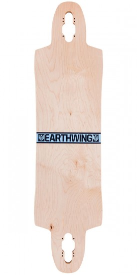 Earthwing Supermodel 3D Drop Thru Longboard Skateboard Deck - Blue / Blue