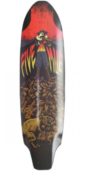 Five Mile Pied Piper Longboard Skateboard Deck
