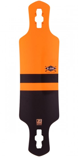 "Globe Geminon 35"" Longboard Skateboard Deck - Fluoro Orange / Black"