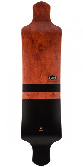 "Globe Geminon Drop Down 41"" Longboard Deck - Red/Black"