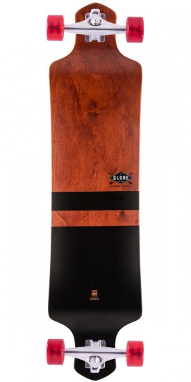 "Globe Geminon Drop Down 41"" Longboard Complete - Red/Black - Blem"