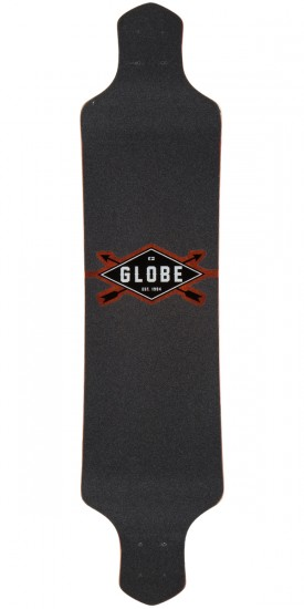 "Globe Geminon Drop Down 41"" Longboard Deck - Red/Black - Blem"