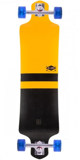 Globe Geminon Drop Down Longboard Complete - Fluoro Yellow/Black