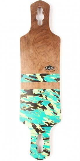 Globe Geminon Longboard Deck - Dark Maple/Watershed
