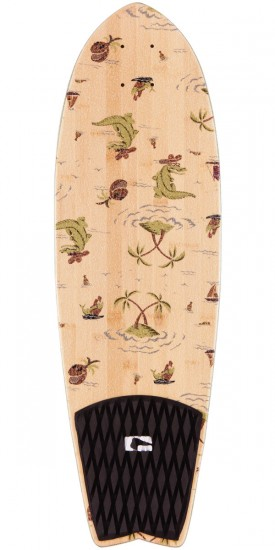 Globe Sun City Skateboard Cruiser Deck - Bamboo / Palms