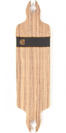 Gold Coast Classic Zebra Drop Through Longboard Deck