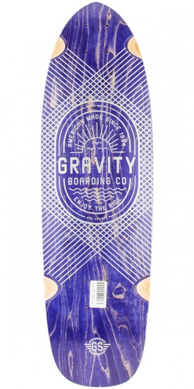 "Gravity 29"" Mini Cruiser Longboard Deck - Blue"