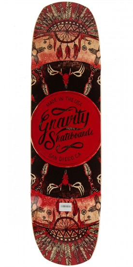 """Gravity 34"""" Pool The Rook Longboard Deck - Red"""