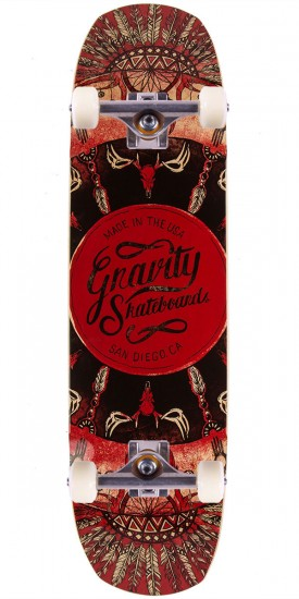 """Gravity 34"""" Pool The Rook Longboard Complete - Red"""