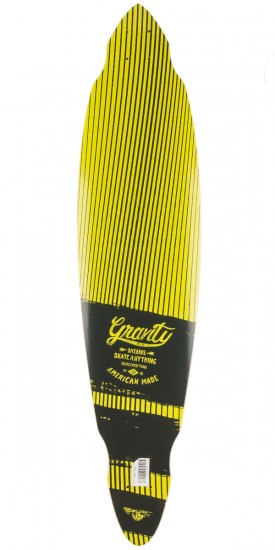 """Gravity 40"""" Visions Pintail Longboard Deck - Yellow"""