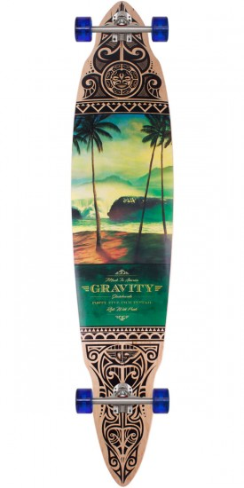 "Gravity Tres Palmas 45"" Pintail Longboard Skateboard Complete - 2014"