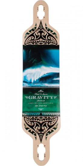 "Gravity Drop Carve 41"" Olas Azul Longboard Skateboard Deck"