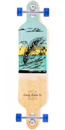 Gravity Drop Carve Liquid Lava Longboard Complete - Blue