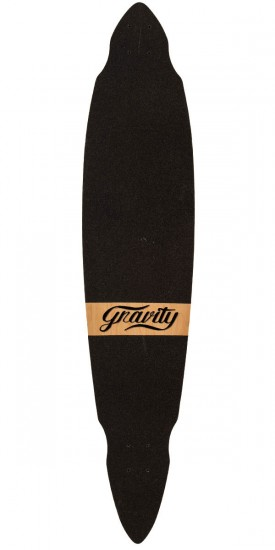 "Gravity Vintage 45"" Pintail Longboard Deck - Red"