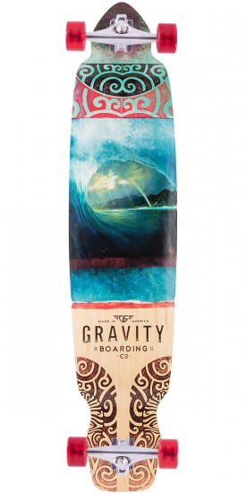 "Gravity 43"" Dropkick Rainbow Barrel Longboard Complete"