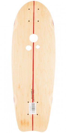 Holesom Crouton Longboard Deck - Natural/Raspberry