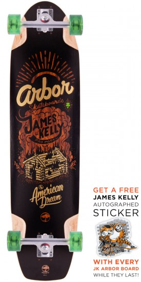 Arbor James Kelly Pro Model Longboard Skateboard Complete