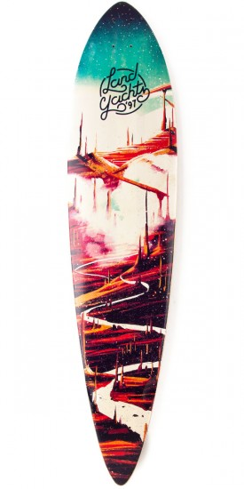 Landyachtz Bamboo Pinner Red Road Longboard Deck