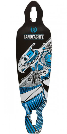 Landyachtz Battle Axe 35 Longboard Deck - Black Thunderbird