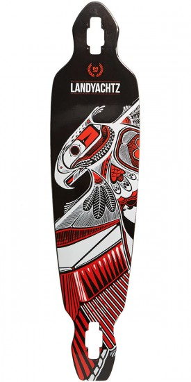 Landyachtz Battle Axe 40 Longboard Deck - Black Thunderbird