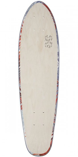 "Landyachtz Mini Dinghy 26"" Floral White Longboard Deck"