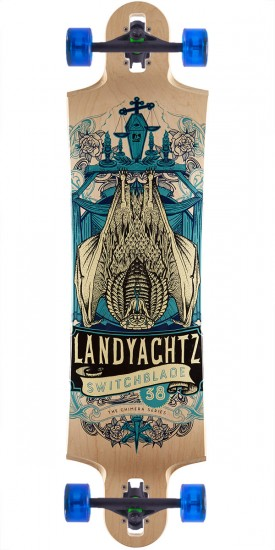 "Landyachtz Switchblade 38"" Longboard Complete - Bat Chimera - Natural Maple"