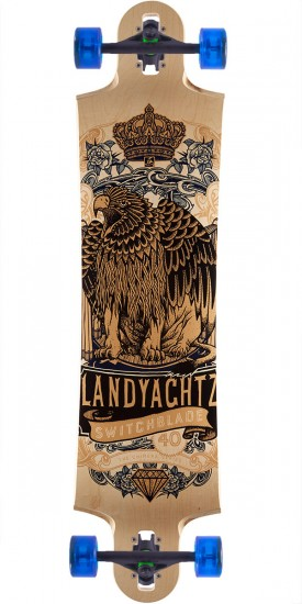 "Landyachtz Switchblade 40"" Longboard Complete - Eagelion Chimera - Natural Maple"