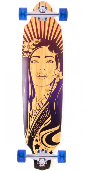 Madrid Market Place Bamboo Longboard Complete