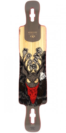 Moonshine County Line V2 Longboard Deck - Firm - Blem