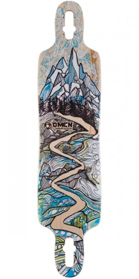 "Omen Alpine 41"" Dropthrough Longboard Deck"