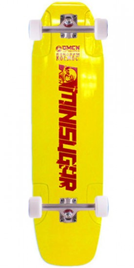 Omen Mini Sugar Longboard Skateboard Complete - Yellow