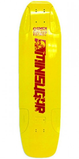 Omen Mini Sugar Longboard Skateboard Deck - Yellow