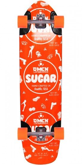 Omen Sugar Longboard Skateboard Complete - Orange
