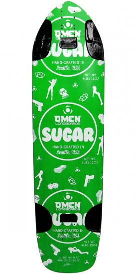 Omen Sugar Longboard Skateboard Deck - Green