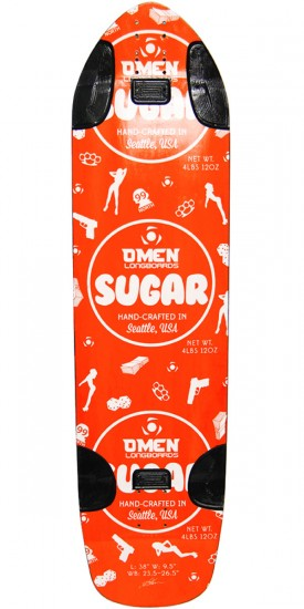 Omen Sugar Longboard Skateboard Deck - Orange