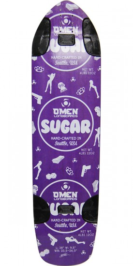 Omen Sugar Longboard Skateboard Deck - Purple