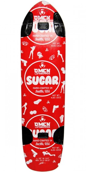 Omen Sugar Longboard Skateboard Deck - Red