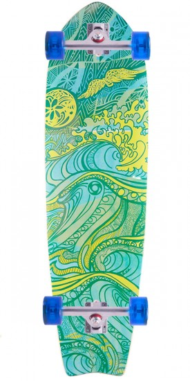 "Omen Waiving the Bird 34"" ST Longboard Complete"
