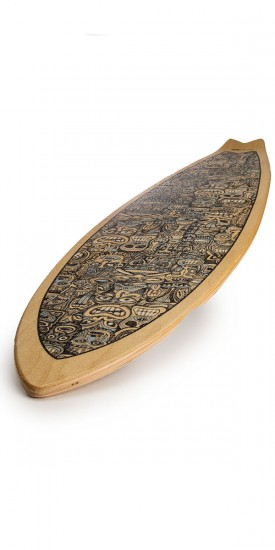 Palisades False Idols Longboard Deck - Blue