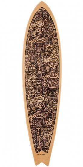Palisades False Idols Longboard Deck - Purple