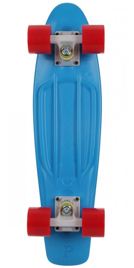 Penny Complete Skateboard - Blue/Red - White Trucks