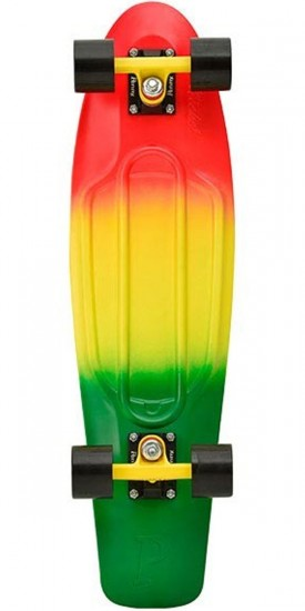 Penny Nickel Complete Skateboard - Red / Yellow / Green Fade