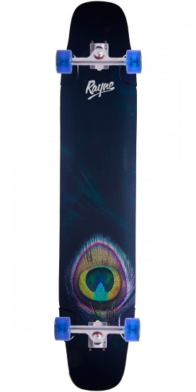 "Rayne Whip 47"" Peacock Longboard Complete"