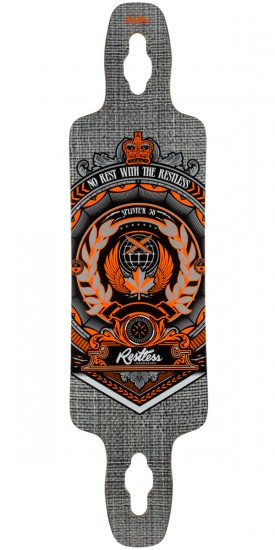 Restless Splinter 38 Crest Longboard Deck - Blem