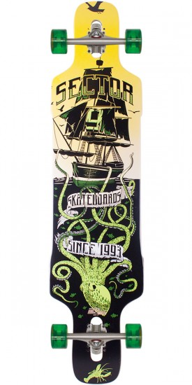 Sector 9 Dropper Longboard Complete - Green 2014 - Scratched