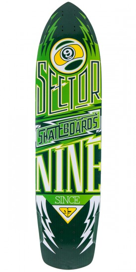 Sector 9 Carbon Flight Longboard Skateboard Deck - Yellow